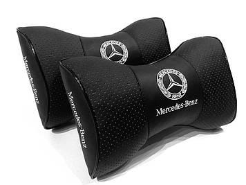 Подушка на подголовник с логотипом Mercedes Подушка для машины под шею Подарок автолюбителю в машину