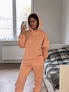 Теплый персиковый костюм свитшот-oversize и штаны, фото 5