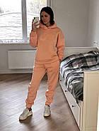 Теплый персиковый костюм свитшот-oversize и штаны, фото 6