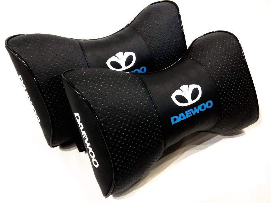 Подушка на підголовник з логотипом DAEWOO Подушка для машини під шию Подушка-підголівник в автомобіль