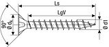 Саморез SPAX с покр. WIROX 2,5х10, полная резьба, потай, PZ1, S point, упак. 1000 шт., пр-во Германия, фото 5