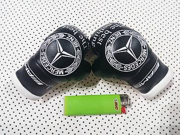"""Подвеска боксерские перчатки """"Mercedes"""" Сувенирные перчатки на подарок"""
