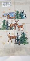 """Льняное полотенце """"Зимний лес"""", фото 1"""