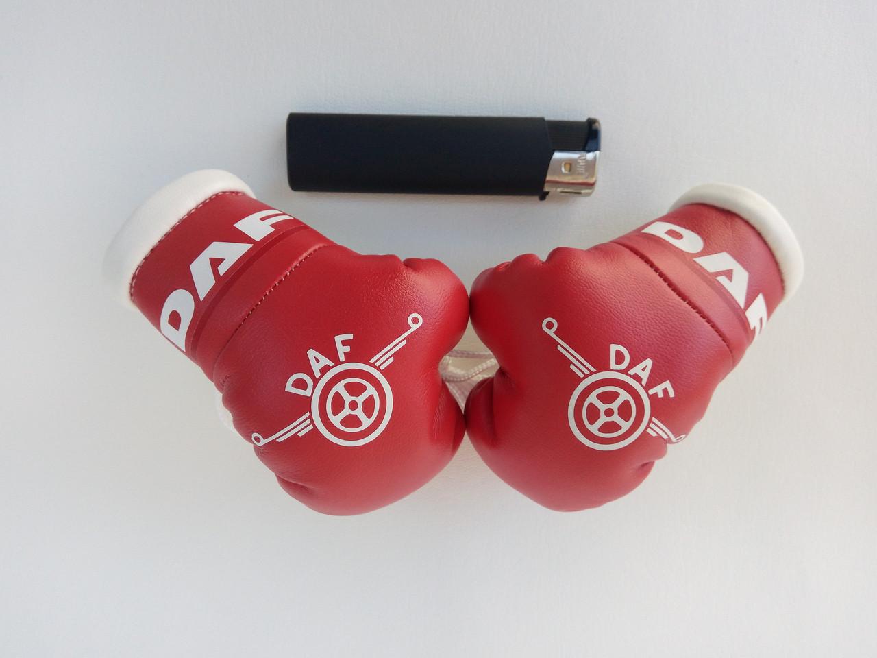 """Подвеска боксерские перчатки """"DAF"""" Сувенирные перчатки на подарок Мужской подарок в авто"""