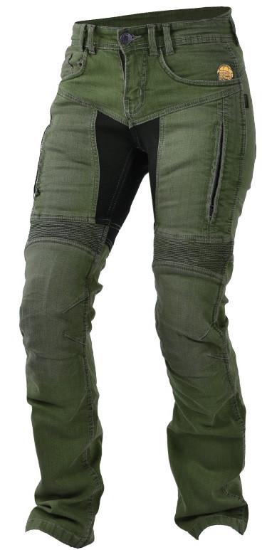 Мотоджинсы з захистом Trilobite 661 Parado TÜV CE жіночі темний хакі, 28