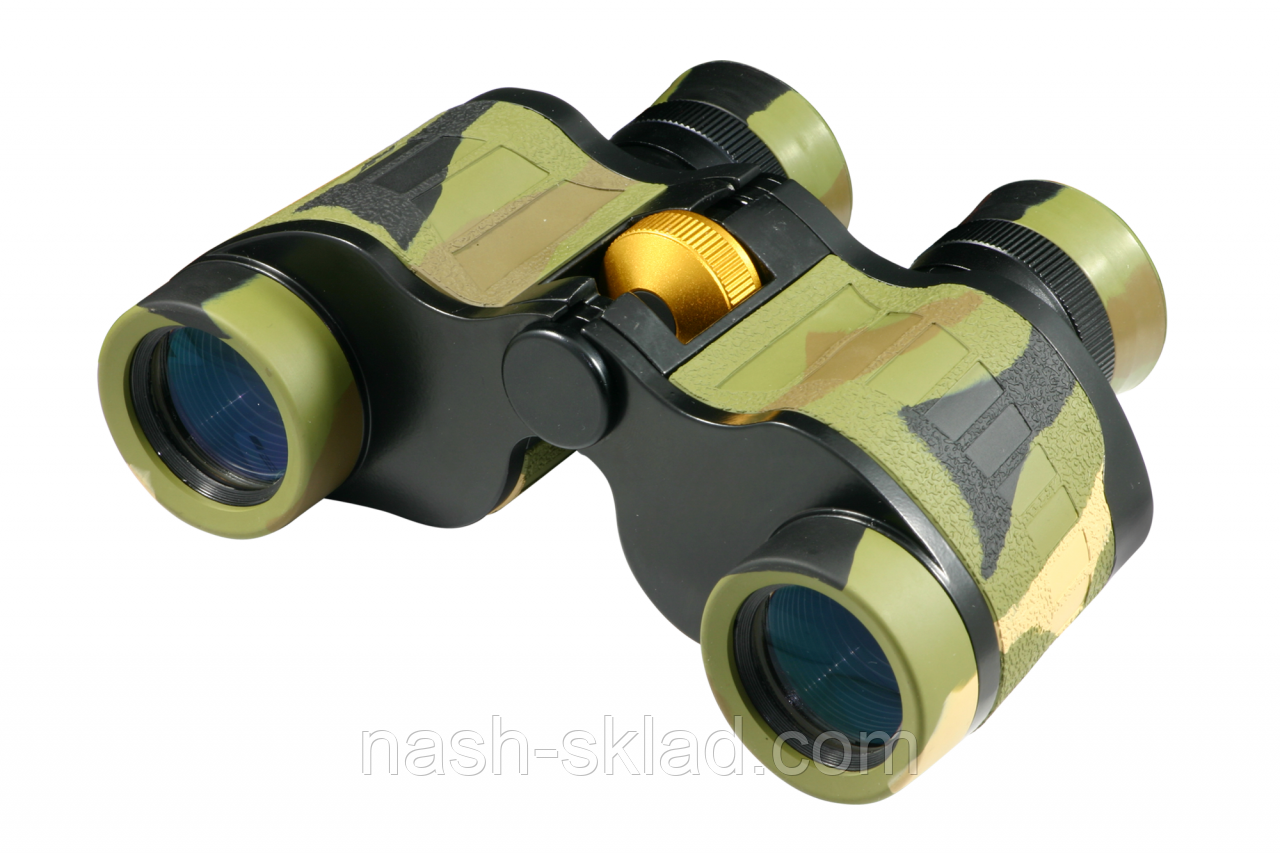 Охотничий бинокль с мощной оптикой 7х32 кратностью, + кожаный чехол, подарок для туриста