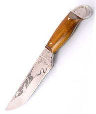 Нож охотничий ручной работы Осетр с кожаным чехлом + эксклюзивные фото, фото 3