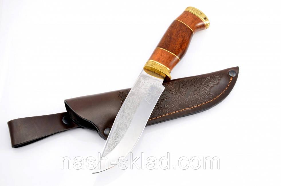 Нож охотничий ручной работы Тигр элитный, кожаный чехол в комплекте + эксклюзивные фото