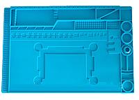 Силиконовый коврик для ремонта телефонов TE-505 45 x 30 см (Голубой)
