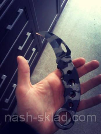 Керамбит для самозахисту, складаний з якісної сталі, фото 2