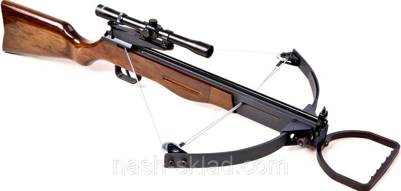 Арбалет блоковий ТДР + приціл, ОРИГІНАЛ, стріляє стрілами, дротиками, і кульками