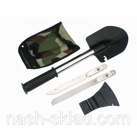 Набор туриста, топор, лопата, пила и штык-нож, фото 2