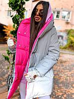 Светоотражающая двухсторонняя куртка зефирка женская на зиму (р. 42-46) 6601527Q