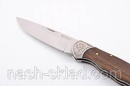 Нож  складной классического плана, с рукоятью из дерева полисандра, фото 3