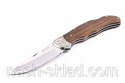 Нож  складной классического плана, с рукоятью из дерева полисандра, фото 2