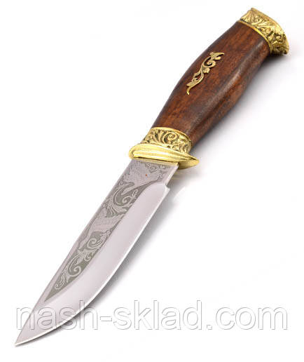 Нож для охотника Утка, ручная работа Украина, в комплекте чехол и паспорт + эксклюзивные фото