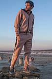 Мужской теплый спортивный костюм трехнитка размер: S-M, L-XL, фото 2
