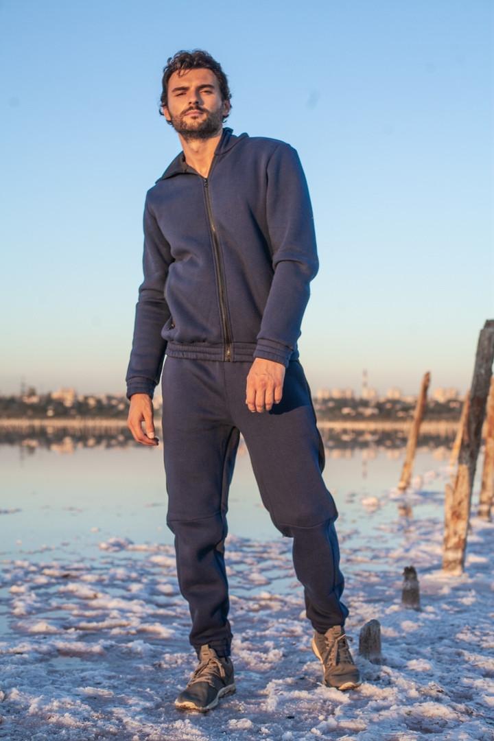 Мужской теплый спортивный костюм трехнитка размер: S-M, L-XL