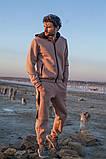 Мужской теплый спортивный костюм трехнитка размер: S-M, L-XL, фото 6