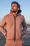 Мужской теплый спортивный костюм трехнитка размер: S-M, L-XL, фото 8