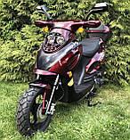 Скутер VENTUS VS80QT-7 80 см3 тёмно-красный, фото 5