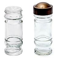 Емкость для специй и трав 80 мл стеклянная с крупной сеткой и герметичной бронзовой крышкой Everglass