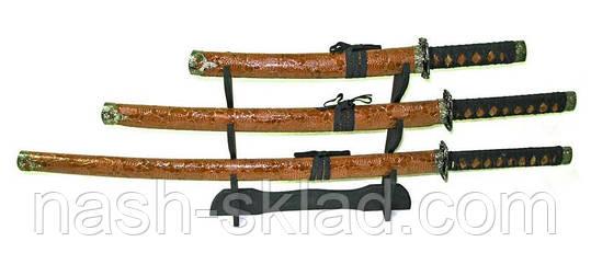 Сувенирный набор Катан из 3 штук + подставка, декор для вашего дома, фото 2