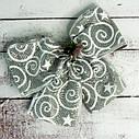 Бант рождественский серебряный уп 5шт, фото 2