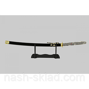 Катана, самурайський меч, елітний подарунок + підставка, фото 2