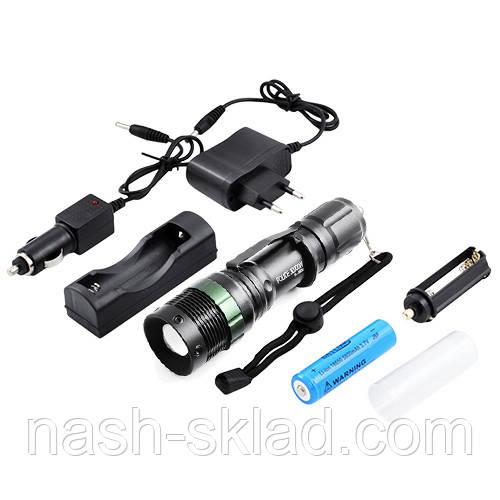 Тактический фонарик Bailong 8455S XPE, 3000W