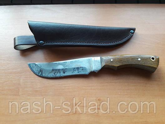 Нож для охоты и рыбалки Сохатый (Ручная работа),мощный и надежный, кожаный чехол в комплекте, фото 2