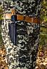 Ніж мисливський Корсар (Ручна робота), потужний і надійний, шкіряний чохол в комплекті, фото 2