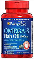 Рыбий жир Puritan's Pride Omega 3 Fish Oil 1000mg 100caps.