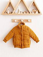 """Куртка бомбер детская """"Line"""" горчичная. Размеры от 80 до 110 размера"""