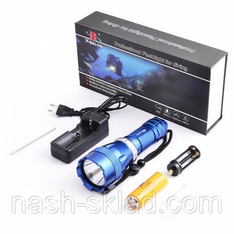 Сверхмощный подводный фонарик на 5 режимов, с аккумулятором 26650, фото 2