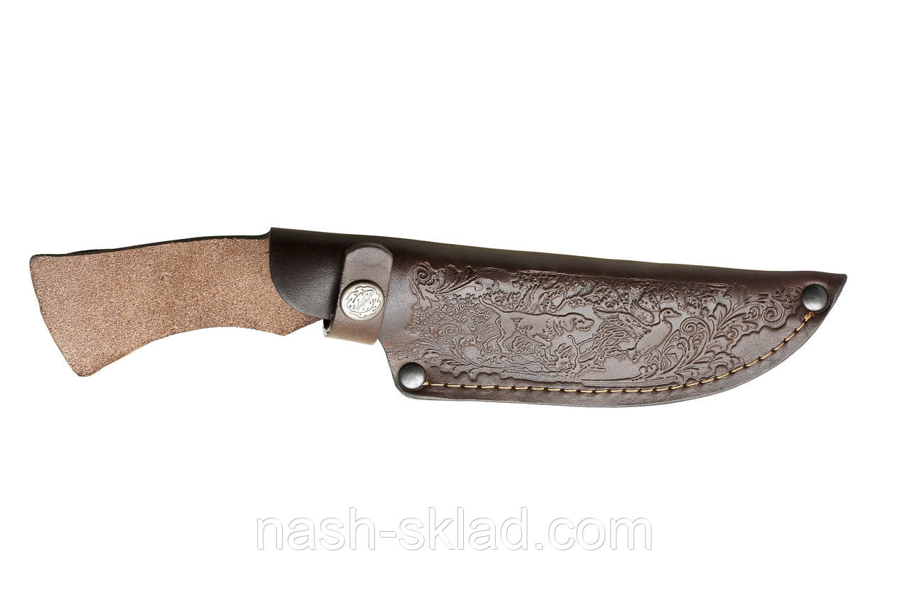 Кожаные ножны для нескладного ножа, телячья кожа