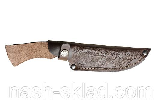 Кожаные ножны для нескладного ножа, телячья кожа, фото 2