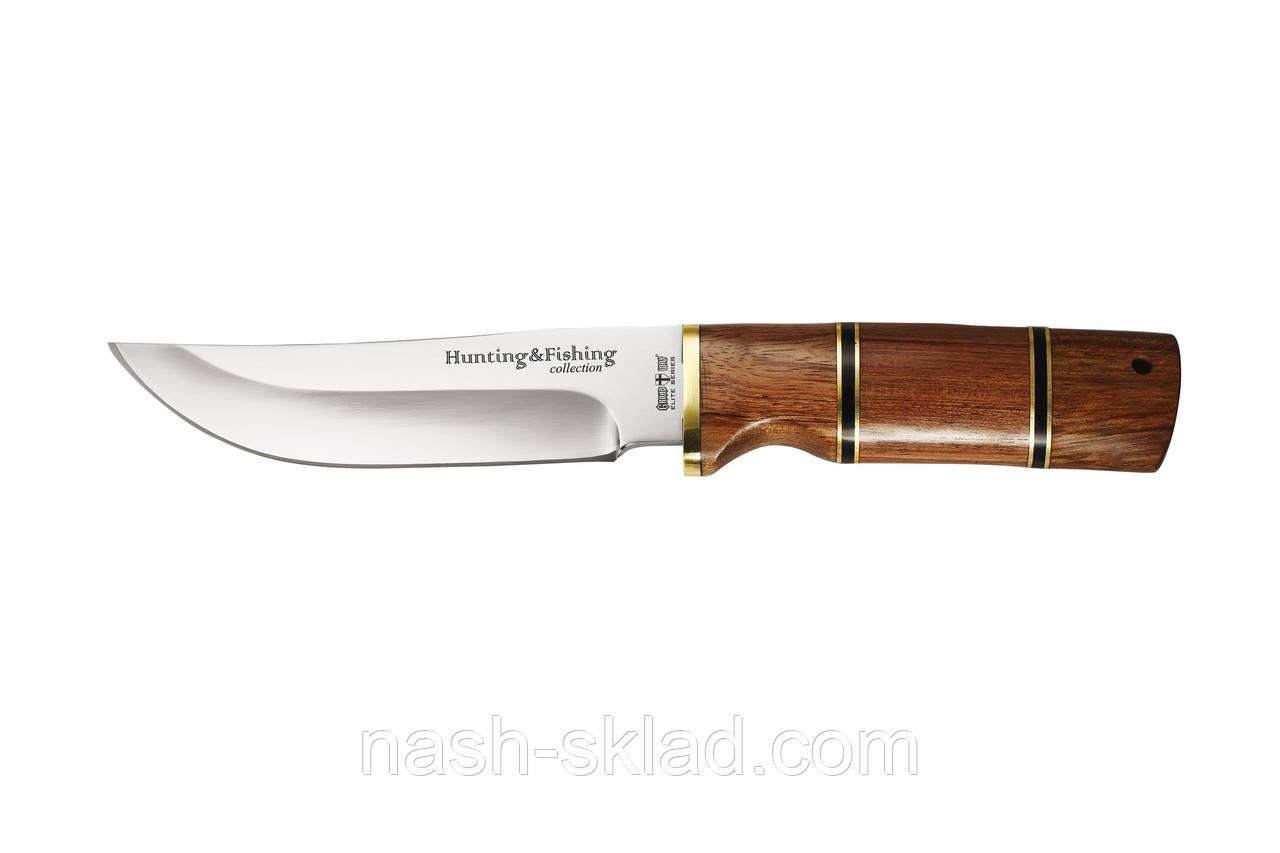 Мисливський ніж, рукоять червоне дерево, сталь 440С гарна твердість