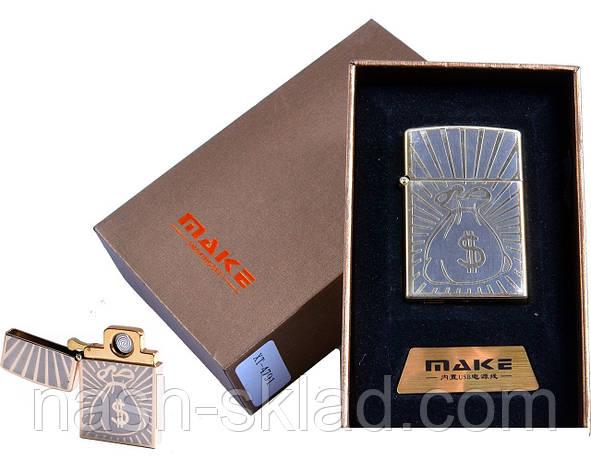 """USB зажигалка в подарочной упаковке """"MAKE"""" (спираль накаливания), фото 2"""