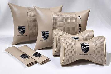 Комплект аксессуаров салона Автомобильная подушка с вышивкой логотипа Подарок автомобилисту мужчине