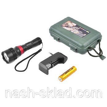 Подводный фонарик для дайвинга с ремешком на руку Kasatka  для профессионального плаванья, 5 режимов, фото 2