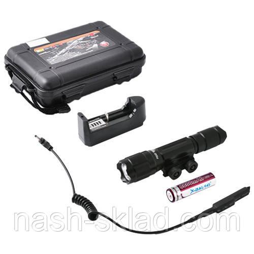 Подствольный оружейный фонарь с выносной кнопкой, зарядное устройство