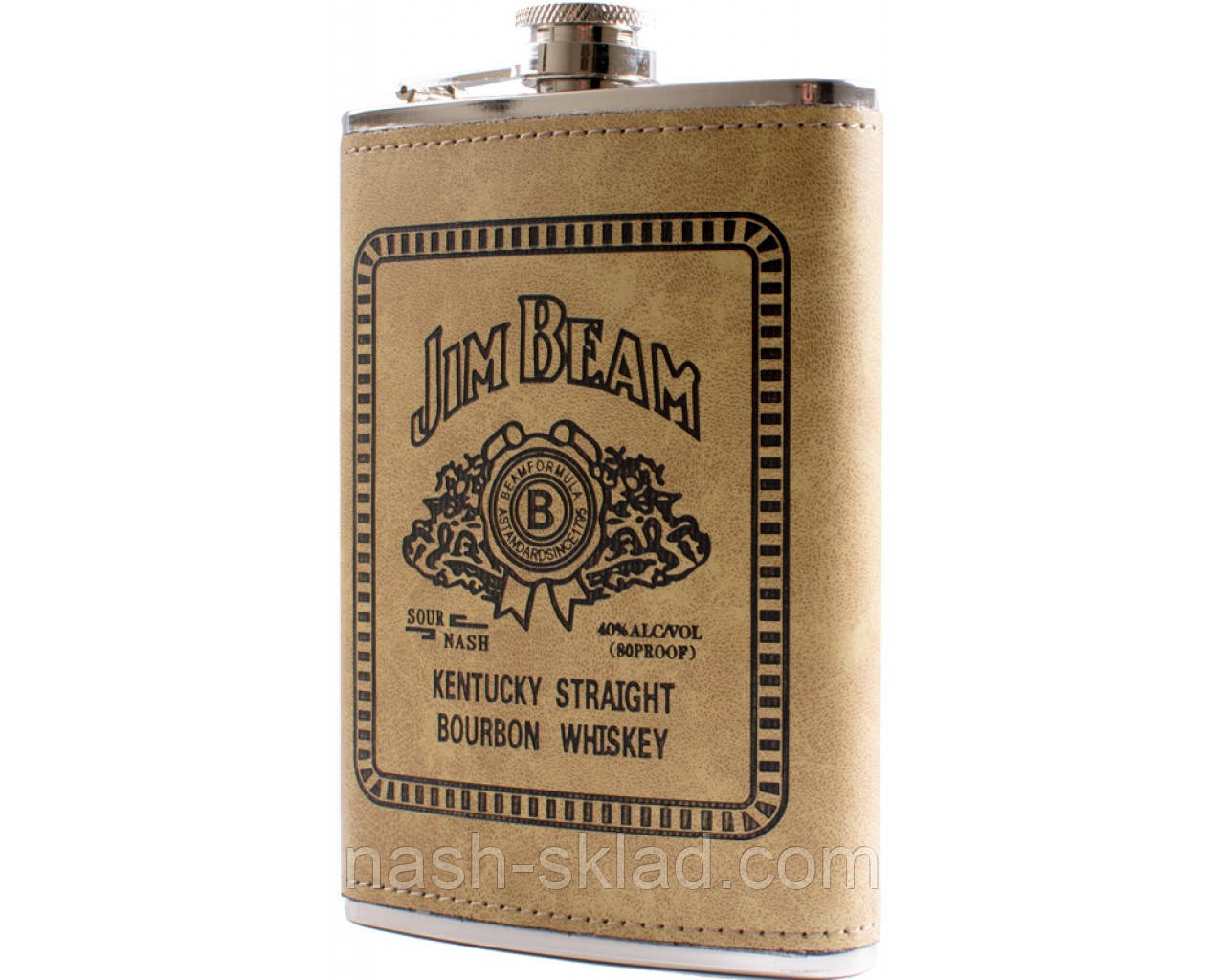 Фляга обтянута кожей (256мл) Jim Beam
