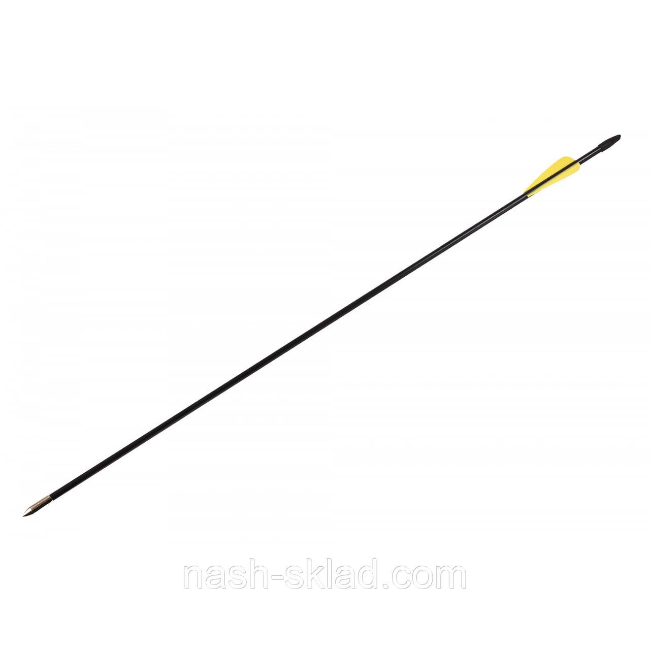 Стрела стекловолокно 80см, фиберглаcсовая  для классических и блочных луков