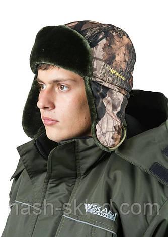 Шапка ушанка на искусственном меху Зима, фото 2