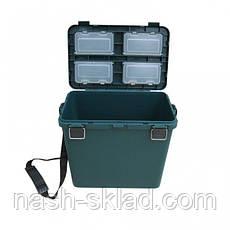Ящик для зимней рыбалки Тонар односекционный, ОРИГИНАЛ, ПОДАРОК РЫБАКУ, в наличии 3 цвета, фото 3