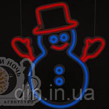 Светильник Снеговик неоновый 320х320мм