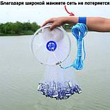 КАСТИНГОВАЯ РЫБОЛОВНАЯ СЕТЬ FINDFISH 3 М Кластерная сеть Findfish, фото 5