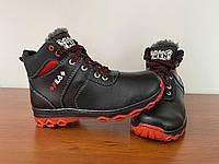 Ботинки мужские зимние подростковые черные (код 1090) - черевики зимові підліткові чоловічі чорні теплі, фото 1