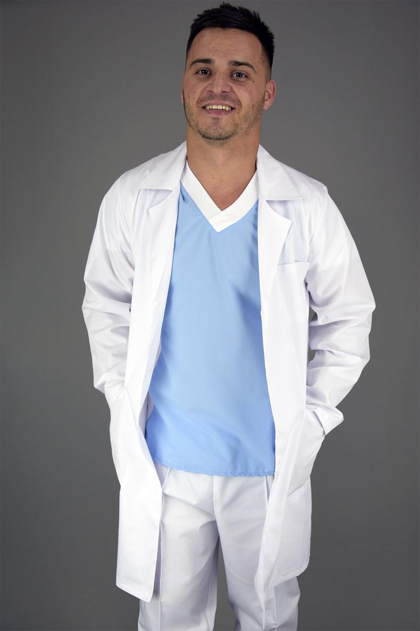 """Медичний чоловічий халат""""Classic"""""""